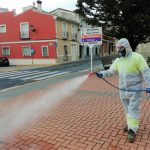 Beniarbeig disinfects public spaces against coronavirus