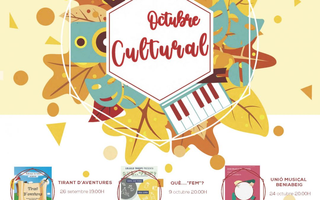 Programme and reservations OCTUBRE CULTURAL 2020