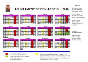 Calendari Basura 2016