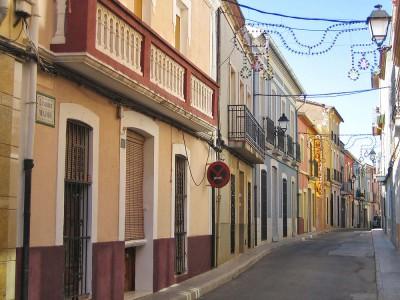Narrow streets of the urban center