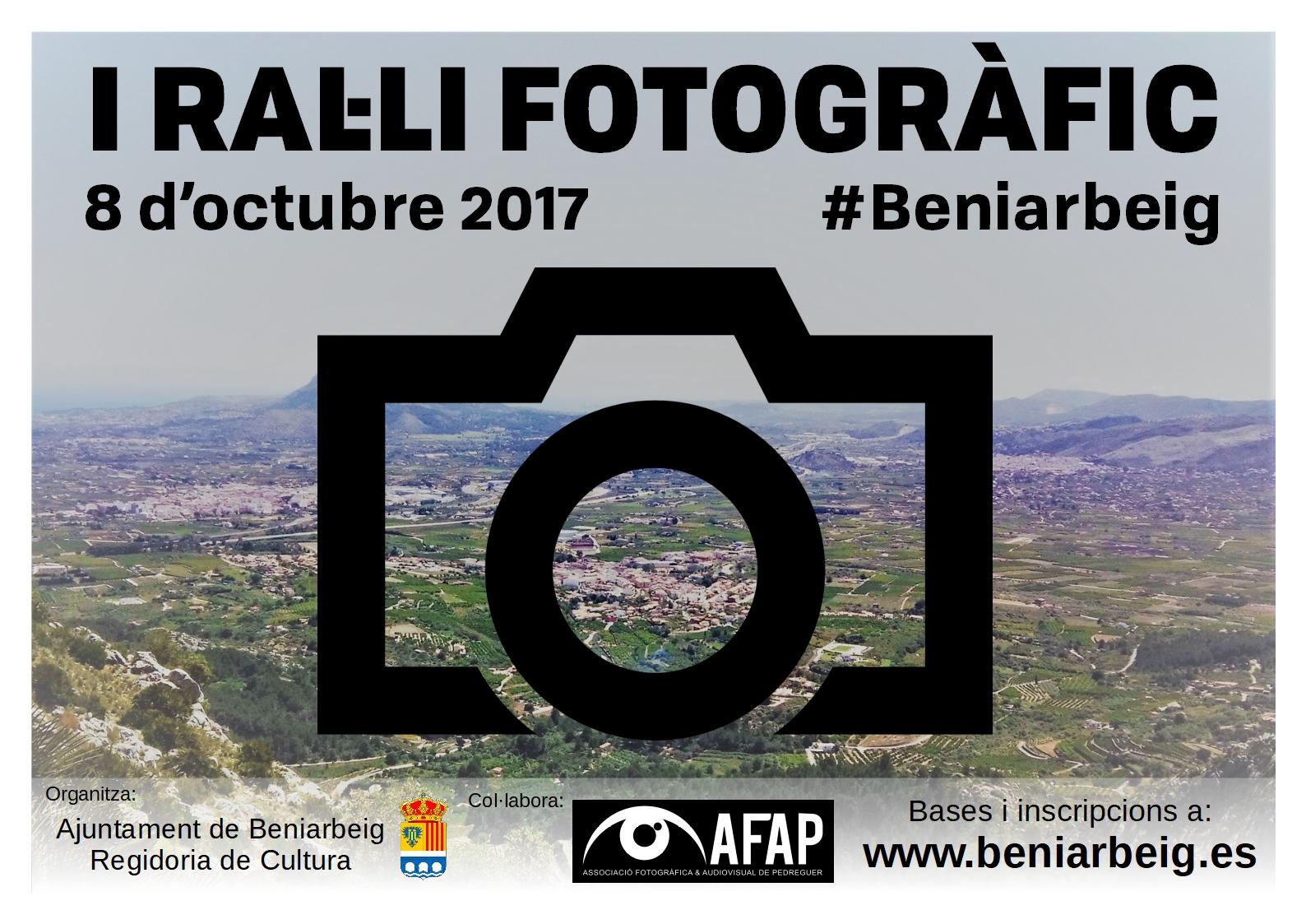 I Ral·li Fotogràfic #Beniarbeig, primera confirmació de l'Octubre Cultural 2017